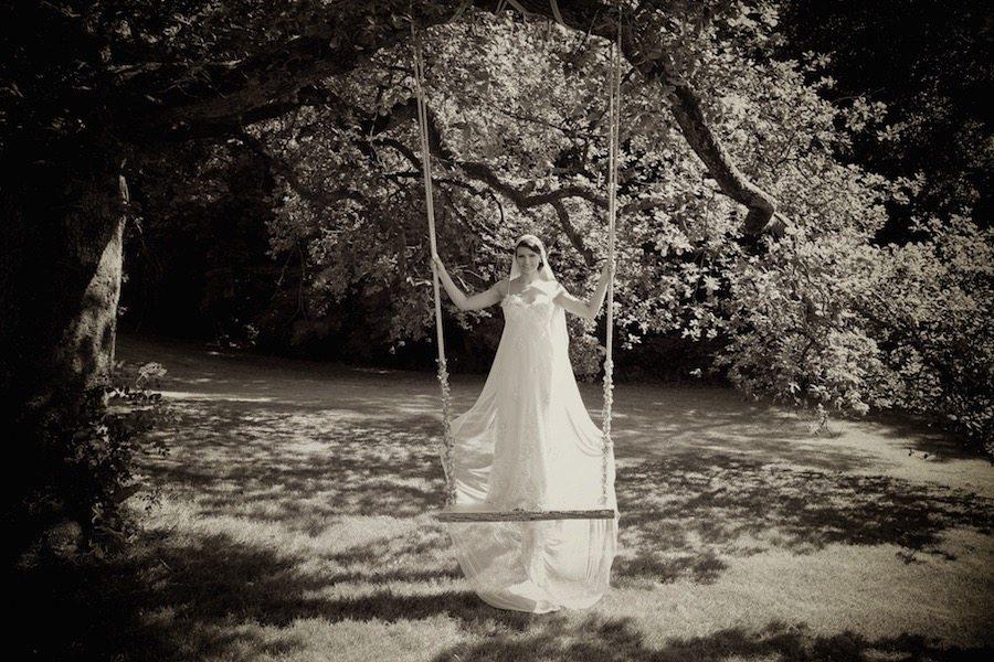 1920s Bride on a Swing