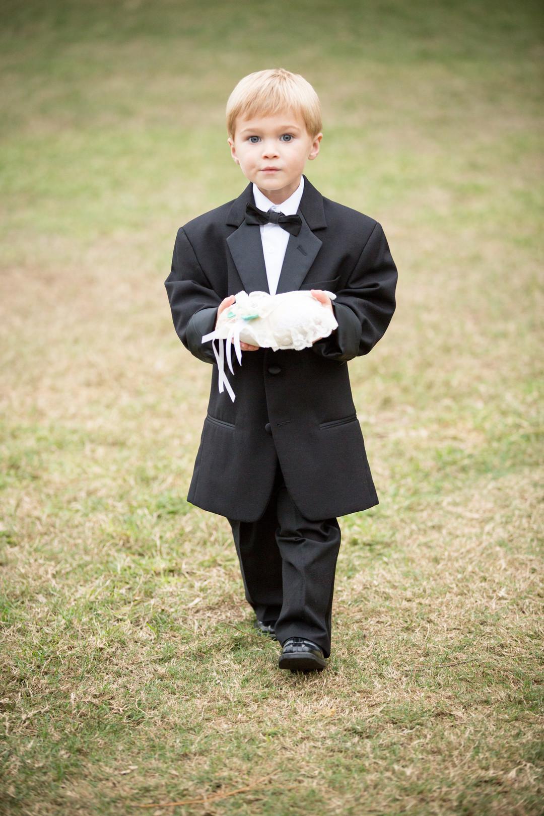 Adorable Ringbearer Tuxedo
