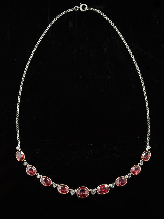 Antique 1920s Garnet Necklace