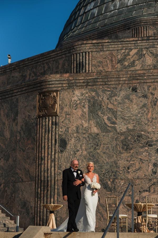Chicago Wedding Adler Planetarium | Bride
