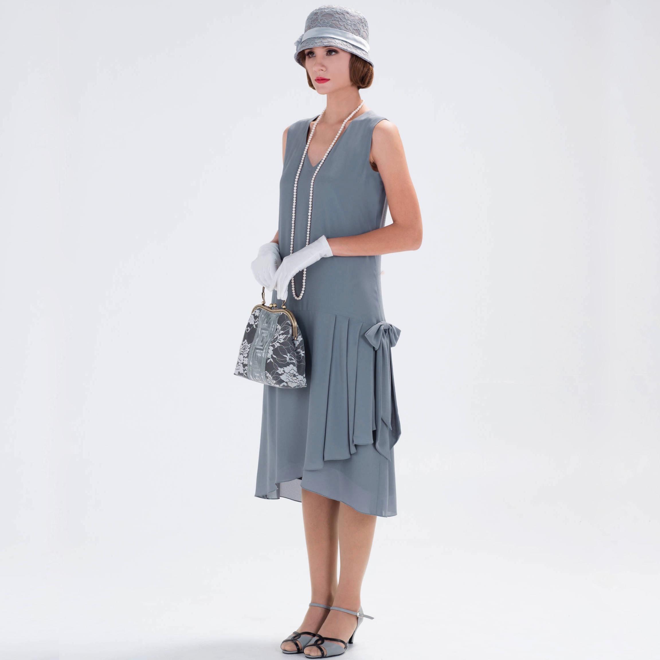 Grey 1920s Flapper Dress
