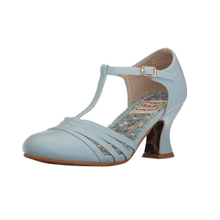 Blue T Strap Heels