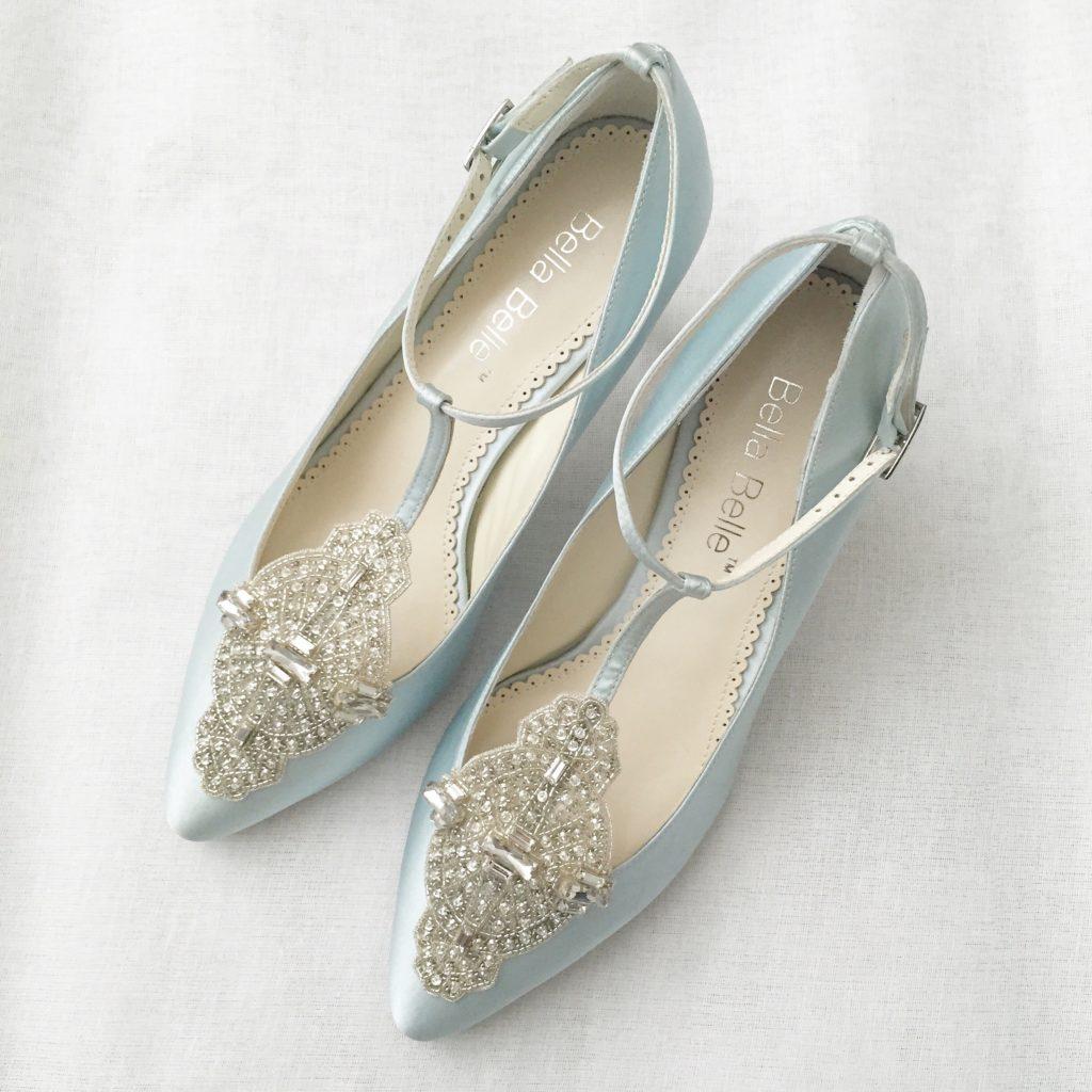 Pale Blue Art Deco Shoes