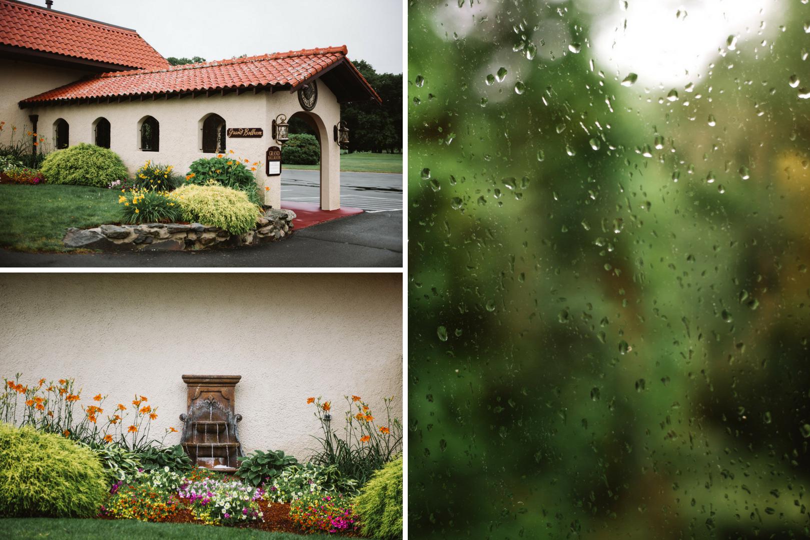 Summer Rainy Day Wedding
